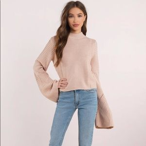 TOBI Handle With Flare Rose Sweater